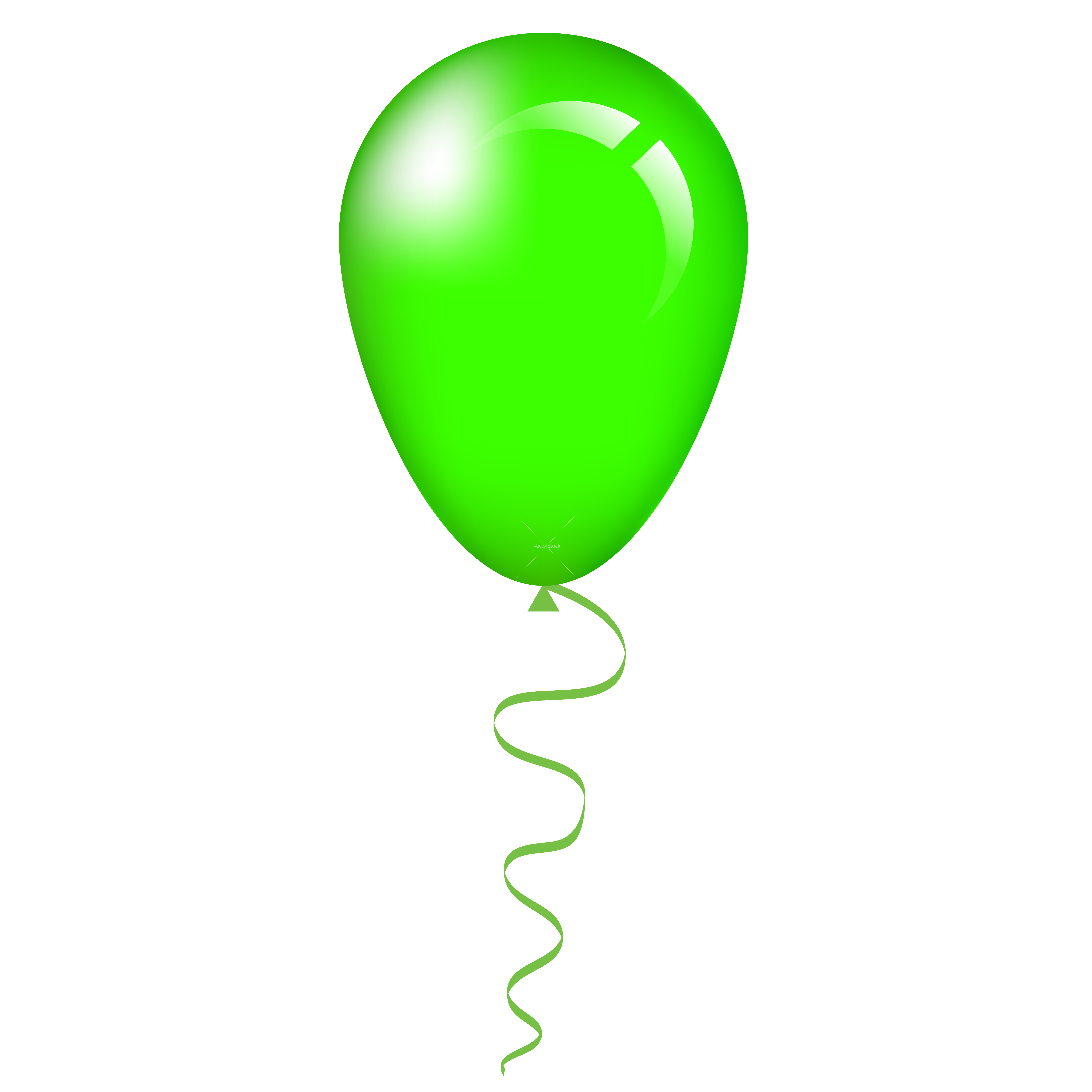6496x6496 Green Balloon Clipart