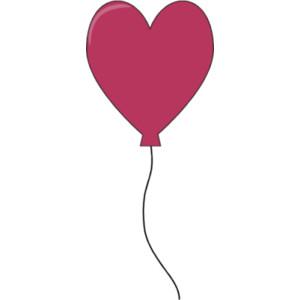 300x300 Heart Balloon Clipart