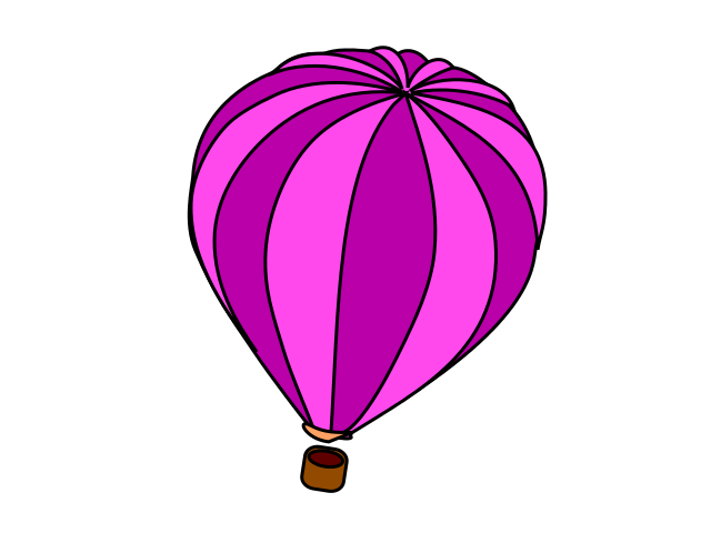 640x480 Hot Air Balloon Pink Clipart Free Clipart Images