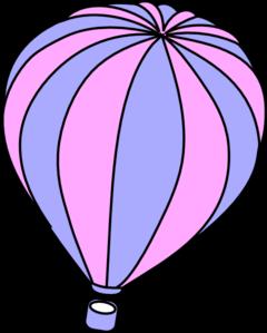 240x299 Lavender And Pink Hot Air Balloon Clip Art