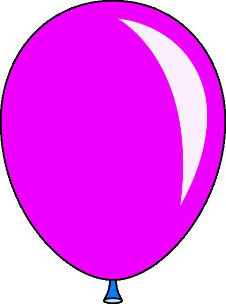 444x597 New Pink Balloon Clip Art