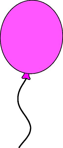 258x599 Pink Ballon String Clip Art