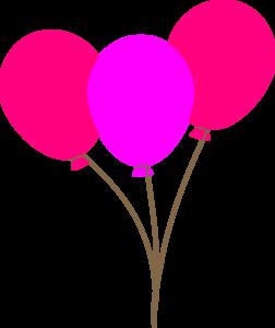252x300 Pink Balloons Clip Art