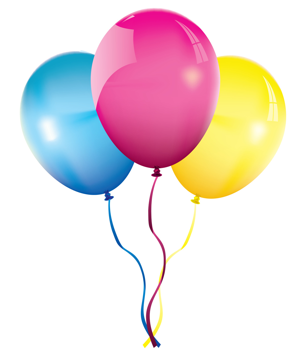 1277x1488 Pink Balloons Png