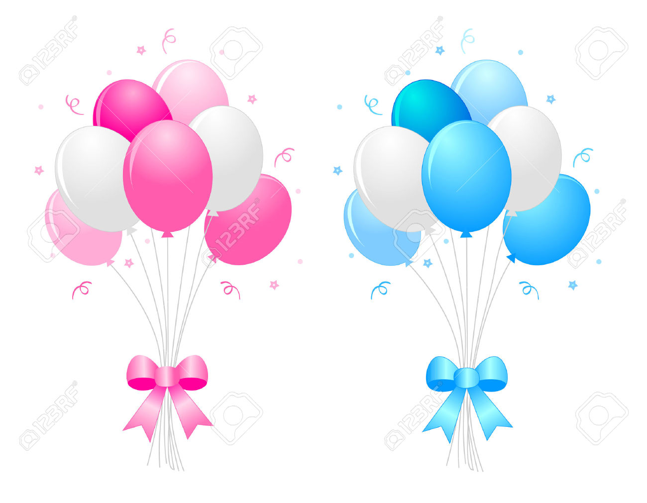 1300x1011 Balloon Clipart Ribbon