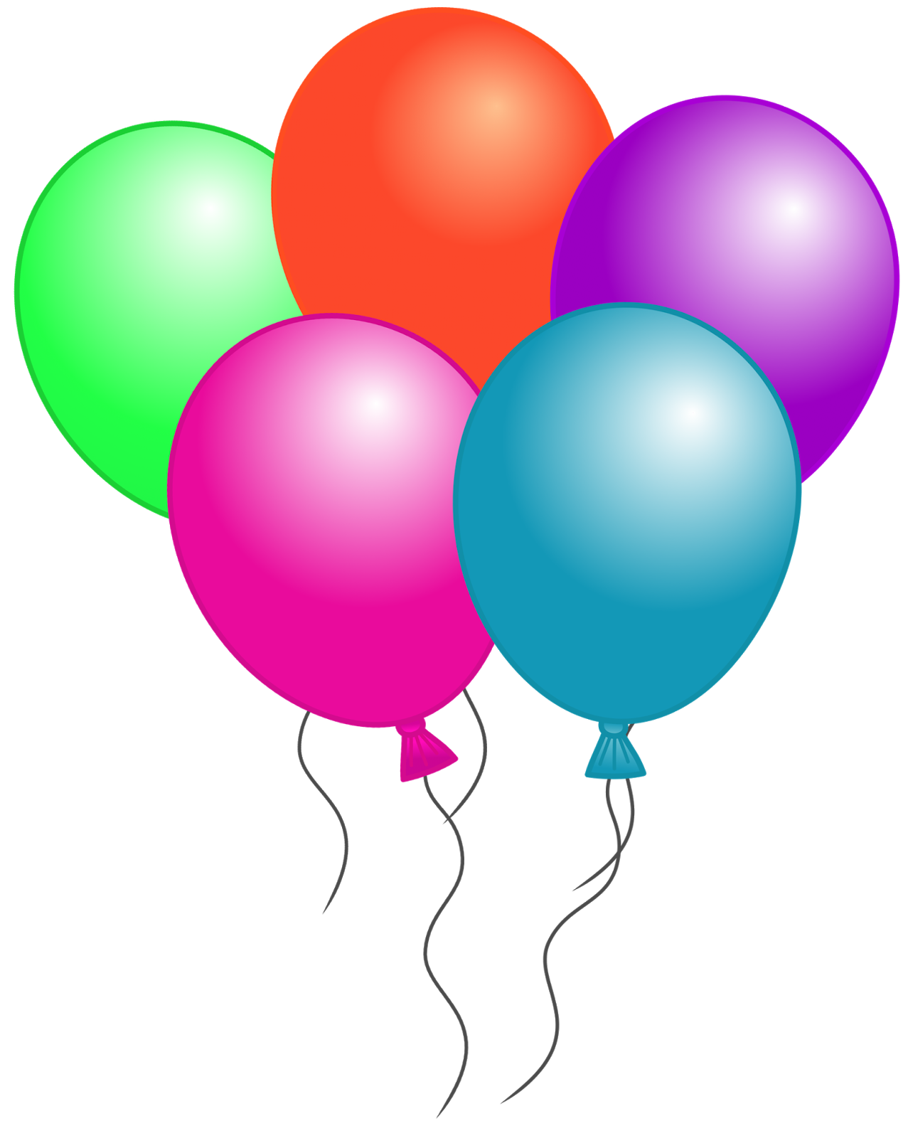 1284x1600 Birthday Balloons Free Birthday Balloon Clip Art Clipart Images 5