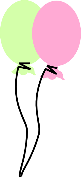 270x588 Green And Pink Balloon Clip Art