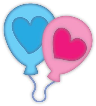 340x373 Heart Balloons Clip Art