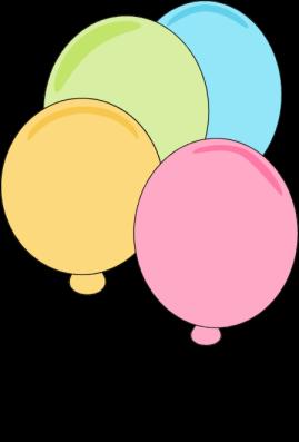 269x397 Pastel Balloons Clip Art