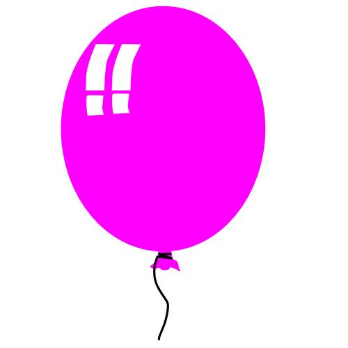 500x500 Pink Birthday Balloons Clipart Clipart Panda