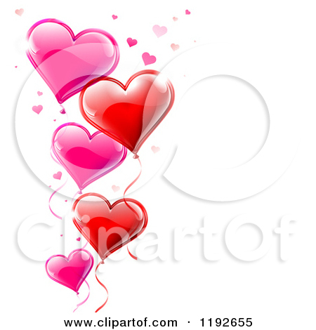 450x470 Red Heart Balloons Clipart