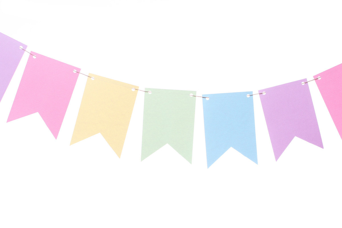 Banner pastel. Pink clipart free download