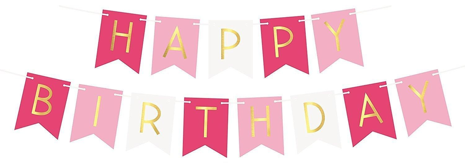 pink birthday banners pink banner clipart free best pink banner