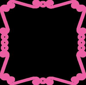 298x294 Pink Chevron Border Clip Art