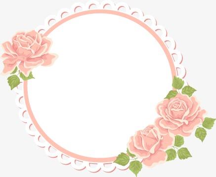 437x359 Beautiful Elegant Pink Floral Decorative Borders, Beautiful