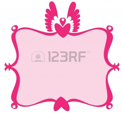 400x371 Free Pink Scroll Clipart