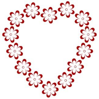 325x325 Hearts Border Clip Art Free