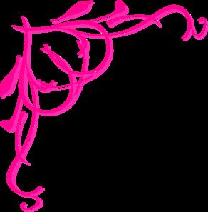 292x297 Pink Heart Border Clip Art