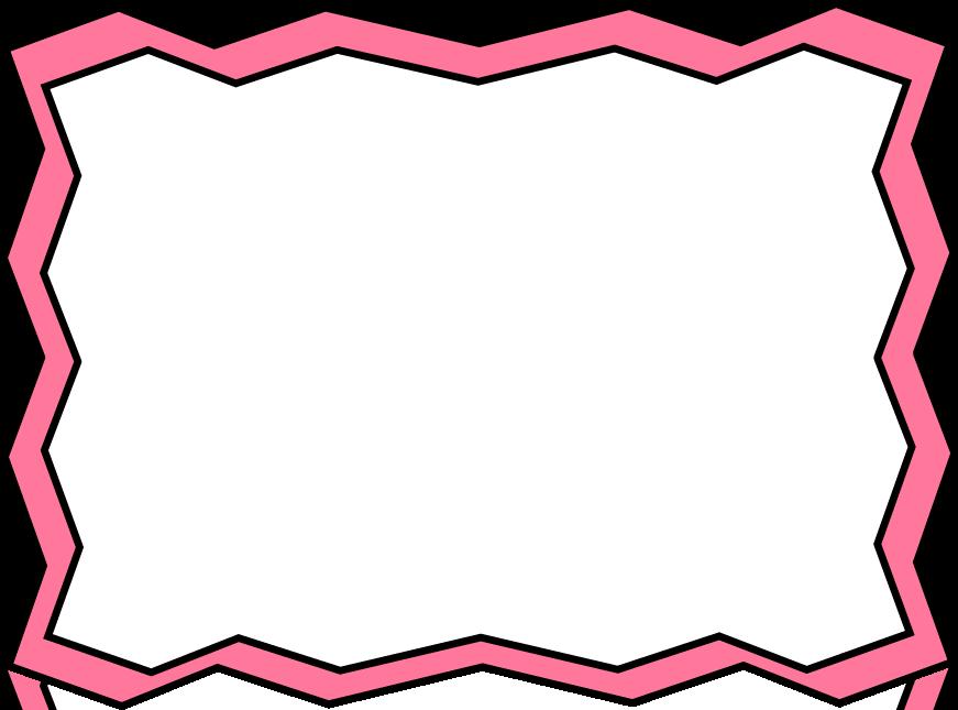 871x645 Pink Zig Zag Frame