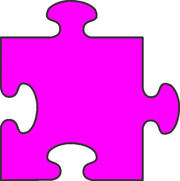 600x601 Blue Border Puzzle Piece Top Clip Art