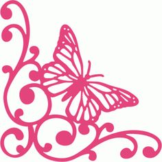 236x236 Butterflies Corner Cliparts