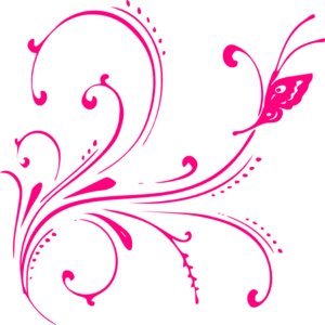 300x300 Pink Butterfly Clip Art