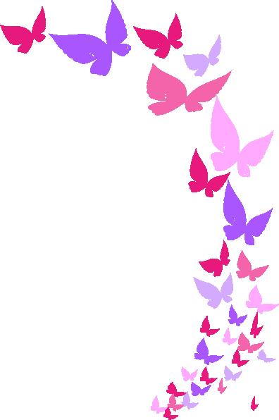 396x596 Rainbow Butterfly Clip Art