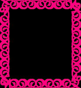 276x298 Stylish,pink,border Clip Art