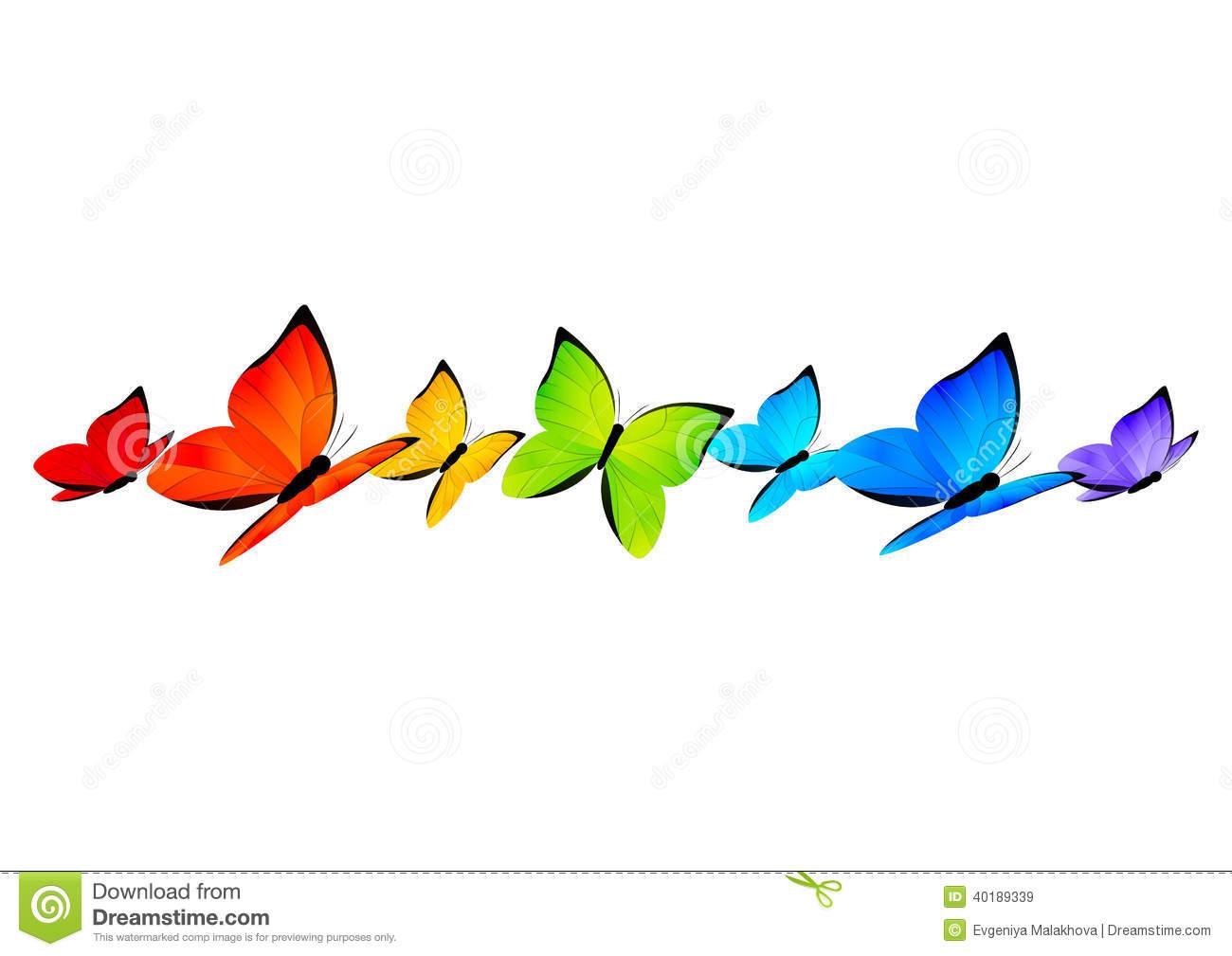 1300x1009 Rainbow Butterfly Clipart Border
