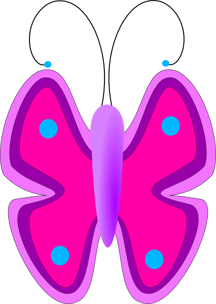 426x600 Butterfly Clipart