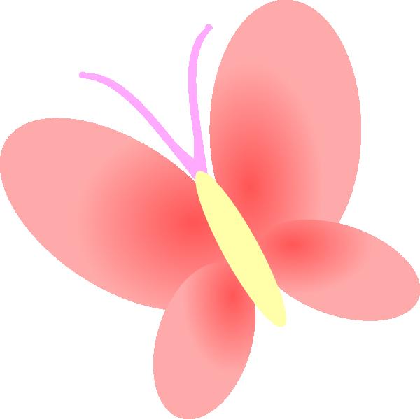 600x599 Butterfly Pink Clip Art