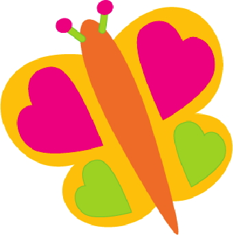 340x343 Butterfly With Hearts Clip Art