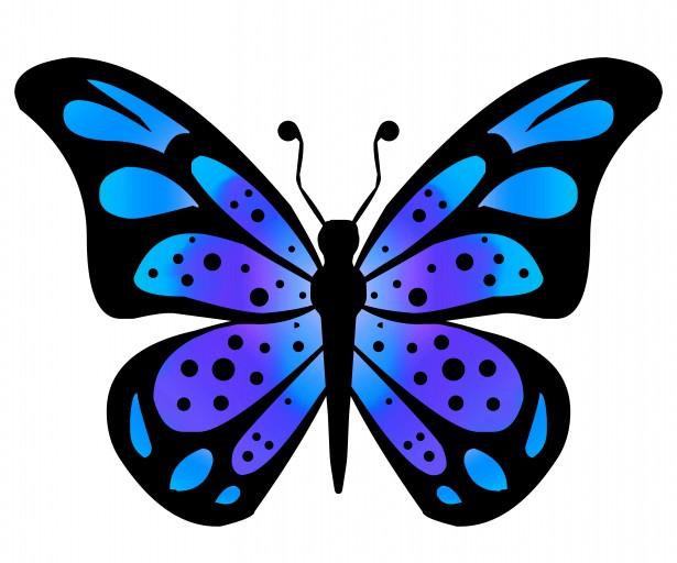 615x512 Butterfly Clip Art Clipart