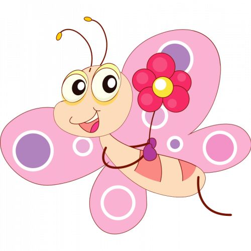 500x500 Butterfly Clipart For Commercial Use