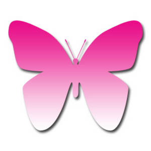 300x300 Clipart Picture Of A Dark Pink To Light Pink Gradient Butterfly