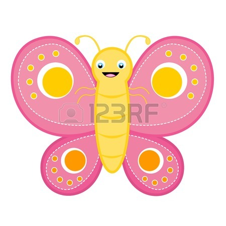 450x450 Cute Butterfly Clip Art Isolated On White Background Royalty Free