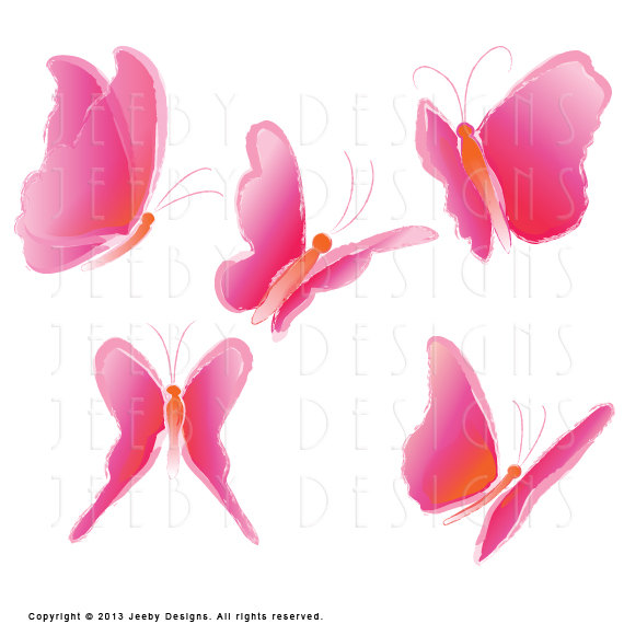 570x570 Five Clipart Butterfly