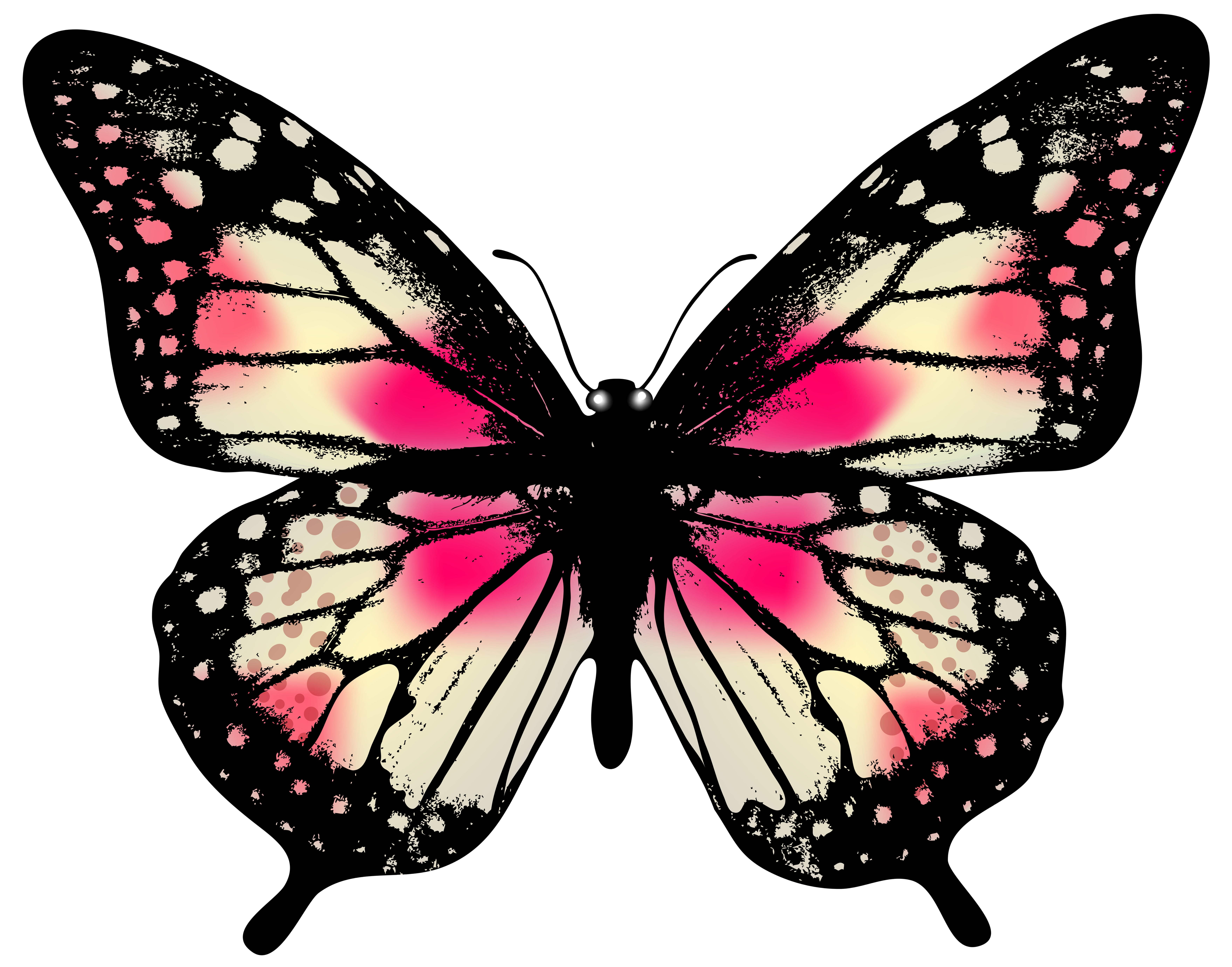 7035x5523 Large Pink Butterfly Png Clip Art Imageu200b Gallery Yopriceville