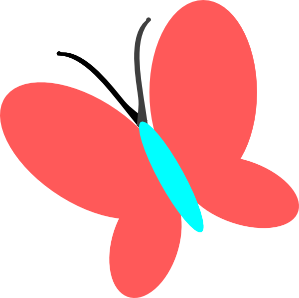 600x599 Pink Butterfly Clipart Free Images