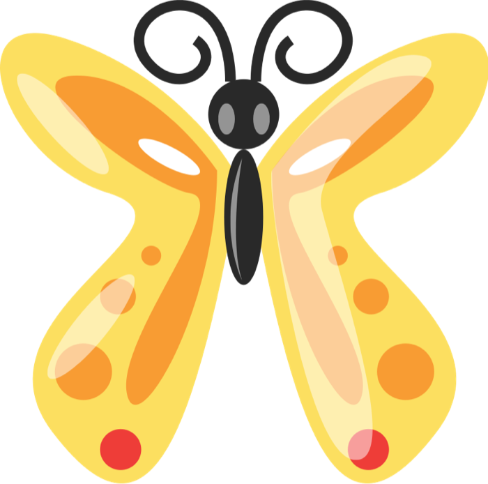 700x694 Animated Butterfly Clipart