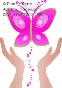 213x300 Art Image Of Hands Setting A Butterfly Free