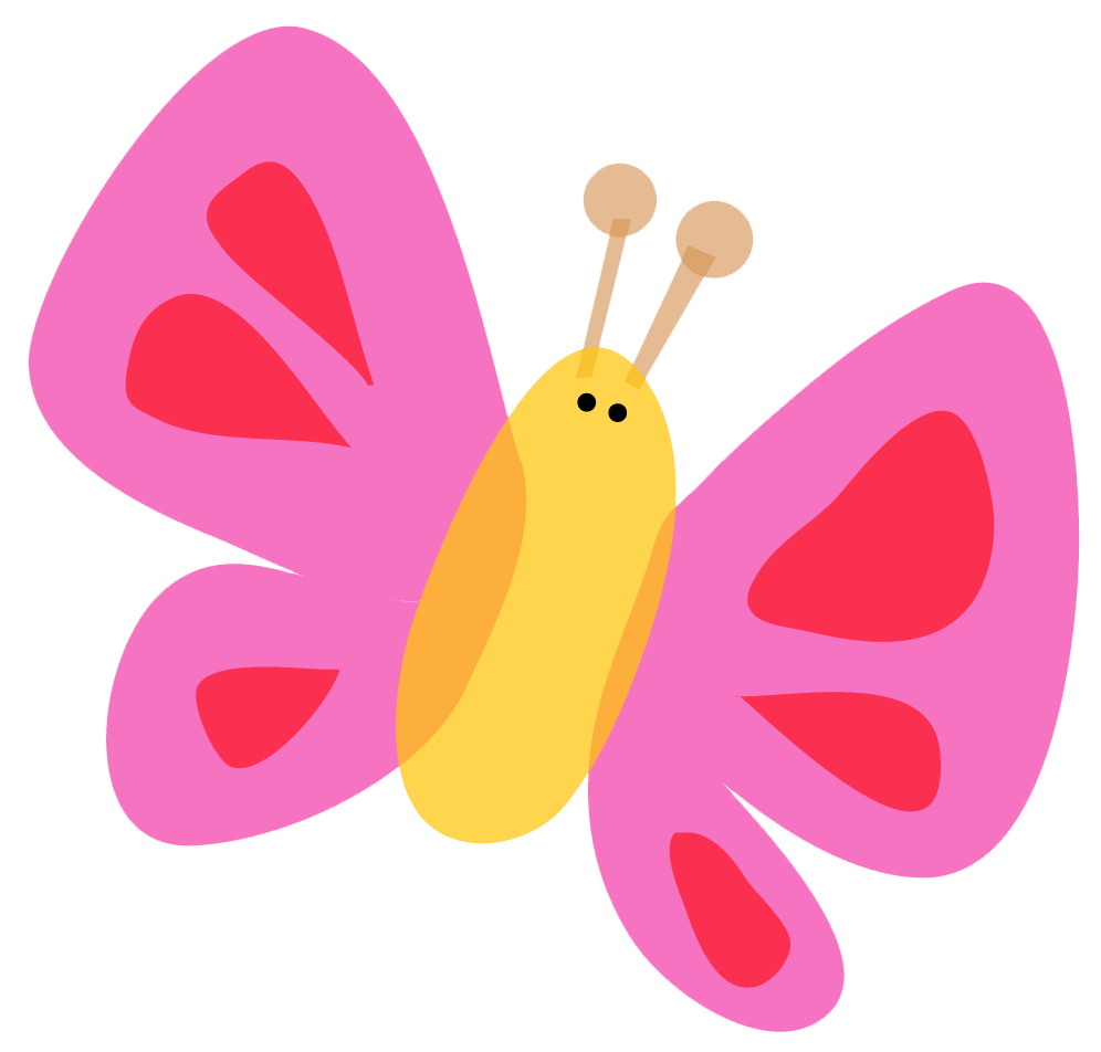 996x952 Bugs Clipart Butterfly Pink