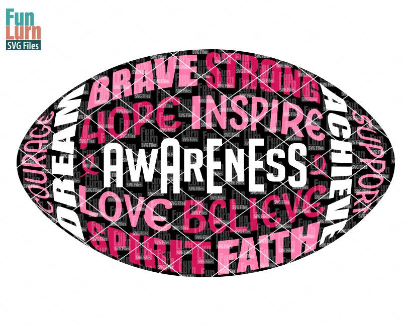 818x649 Football Svg Breast Cancer Awareness Svgcancer Football