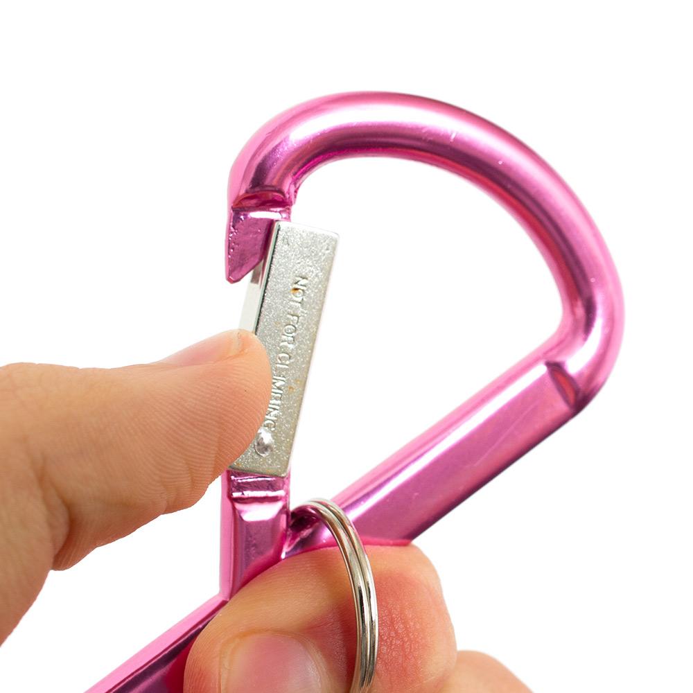 1000x1000 Pink Breast Cancer Ribbon Carabiner