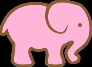 297x216 Pink Elephant Clip Art