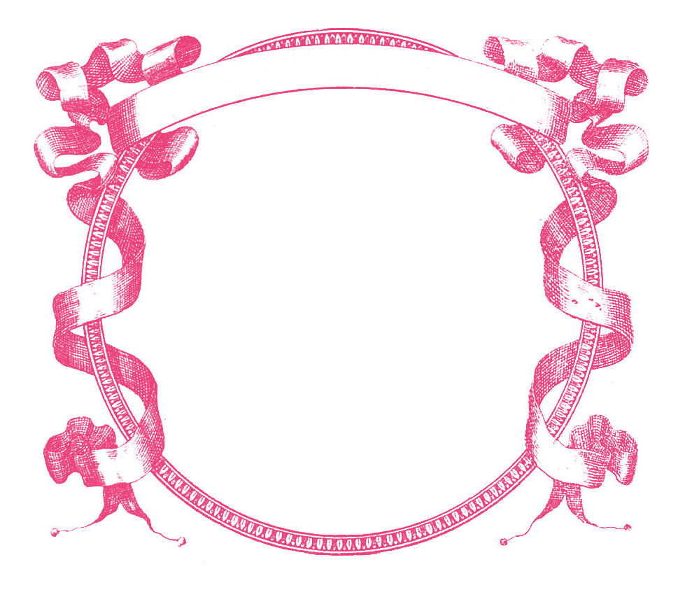 969x843 Pink Frame Clipart