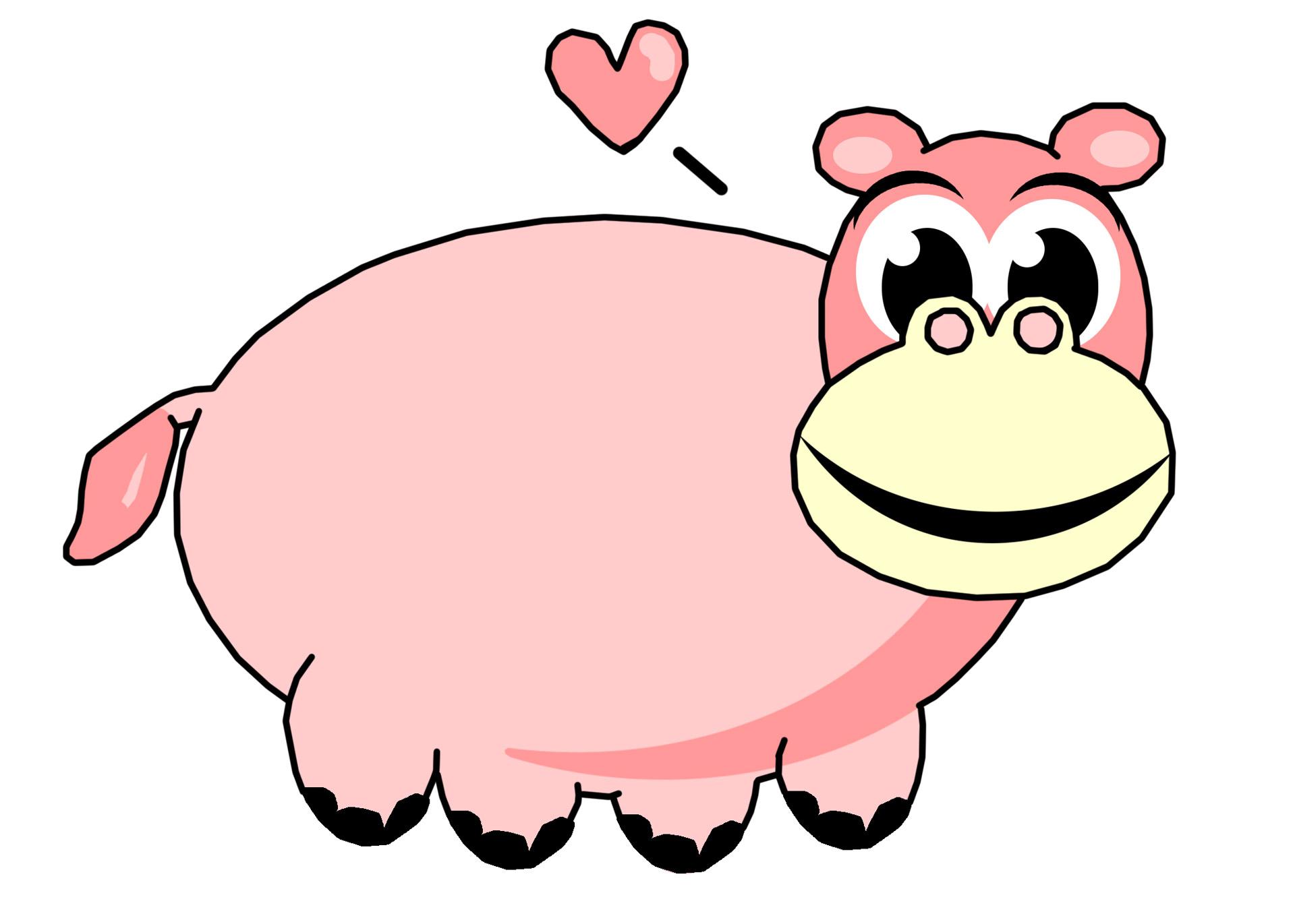 1920x1371 Pink Hippo Clip Art Free Stock Photo