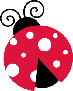 240x299 Pink Lady Bug With White Dots Clip Art