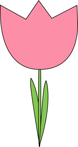 318x600 Pink Tulip Clip Art