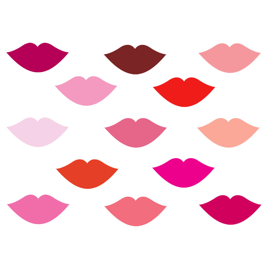 900x900 Pink Lips Clip Art